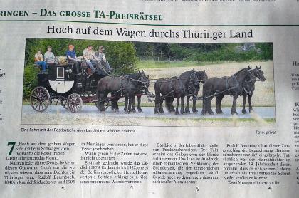 """Presseartikel TA """"Hoch auf dem Wagen"""""""