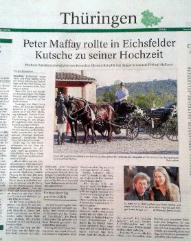 Artikel TA Hochzeit Peter Maffay